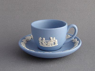 Blue Wedgewood Cup And Saucer 32