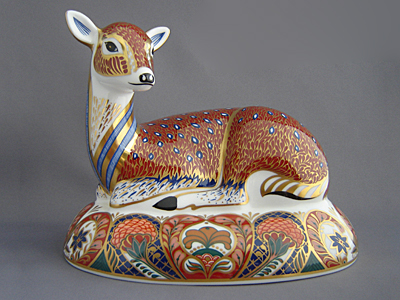 Crown Derby Deer