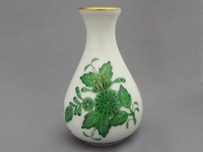 Herend Vase Chinese Bouquet Green